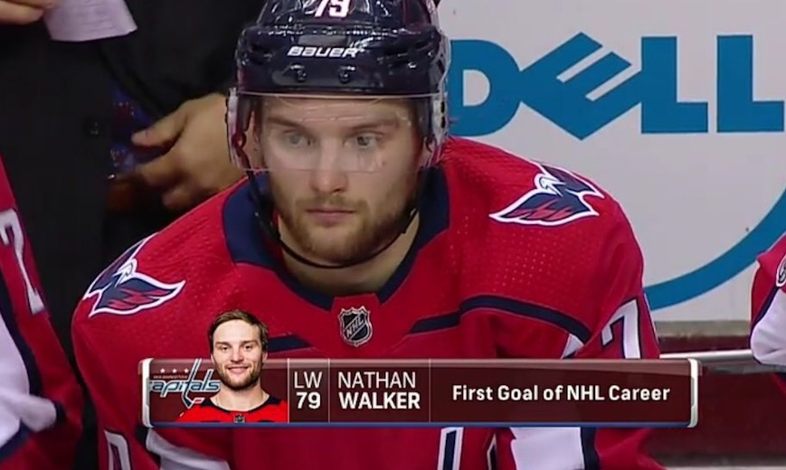 Walker's dream debut, records first NHL goal